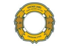 Vintage style labels set. Product Image 4