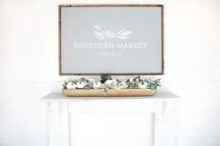 Fall Wood Framed Sign 24x36 Mock Up Photo Stock Photography Product Image 1