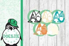 Gnome letters 3D multi layer mandala layered alphabet bundle Product Image 12