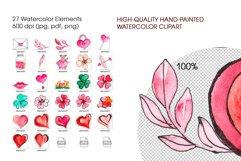Valentine's Day Watercolor Clipart. Invitation, card design Product Image 5