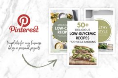 Canva Pinterest Templates in Green Product Image 3