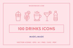 Line Icons - Drinks Product Image 1