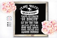 Home and Summer Rules Cut Files and Sublimation Bundle Product Image 7