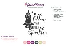 Follow Your Inner Sparkle | Unicorn SVG | Dancing Unicorn Product Image 2