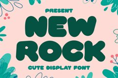 New Rock - Cute Display Font Product Image 1
