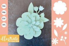 Paper Flower Template Bundle | Paper Cutting Bundle SVG Product Image 2