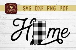 Indiana Buffalo Plaid State Home SVG DXF Cut File Product Image 2