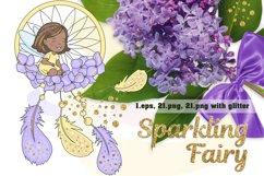 SPARKLING FAIRY Glitter Color Vector Illustration Set Product Image 1