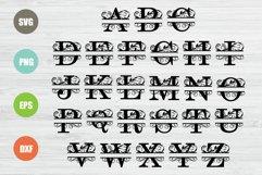 Split Letters A-Z Svg, Split Alphabet, Monogram Svg Product Image 2
