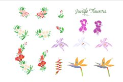 Jungle clipart with flowers Product Image 3