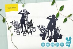 House Plants svg, Girl Vector Cut File, plants svg files Product Image 4