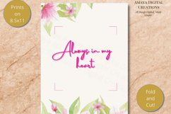 E card Always in my heart Card Instant Download Product Image 4