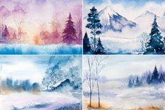 Winter Landscapes set#3. Watercolor. Product Image 2