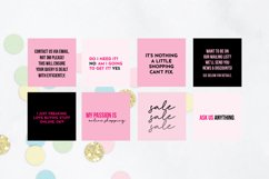 25 x Pink & Black Online Business Social Media Quotes Product Image 2
