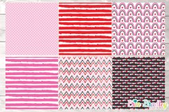 Pink Valentines Day Digital Papers Product Image 2