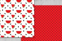 Watermelon Digital Paper, Fruits Background. Product Image 2