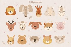 Animal Faces and Rainbow Set, Cliparts, Patterns, Alphabet Product Image 3