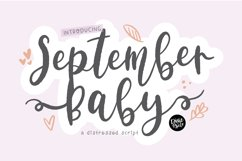 SEPTEMBER BABY a Bold Distressed Farmhouse Font Product Image 1