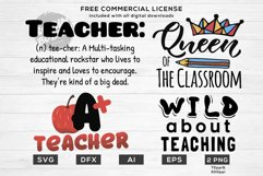 Teacher Life Bundle - Funny Teacher Quotes SVG Files Product Image 2