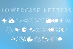Skies - sun, moon and stars magic doodle font Product Image 4