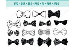 Bow Tie SVG, Bow Tie Clipart, Accessory Svg, Dxf, Png, Eps Product Image 1