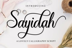 Sayidah Lovely Script Product Image 1