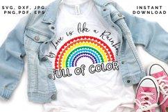 Love like a Rainbow SVG, Valentine's cut file, Love svg Product Image 4