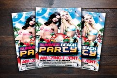 Summer Beach Party Flyer Product Image 3