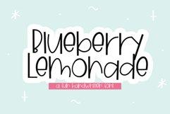 Blueberry Lemonade - A Fun Handwritten Font Product Image 1