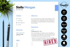 Simple Resume CV Template for Word & Pages Stella Morgan Product Image 1