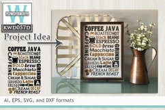 BUNDLED Coffee Cutting Files KWD057 Product Image 5