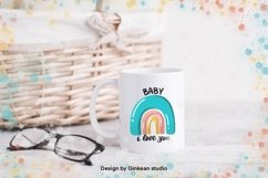 Rainbow, Welcome baby, card for baby, baby shower card Product Image 2