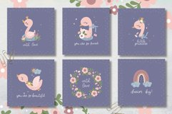 Baby Swan Clipart Patterns Product Image 4