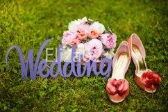 wooden letters wedding, shoes, bouquet Product Image 1