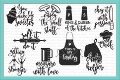 Bundle kitchen sayings towel designs svg dxg cutting files Product Image 4