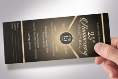 Anniversary Banquet Ticket Bundle Word Publisher Template Product Image 5