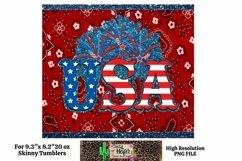 20oz Skinny Tumbler Patriotic USA July 4th Dye Sublimation S Product Image 1