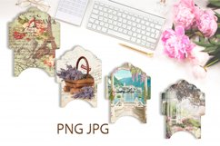 Junk Journal. Scrapbook Envelope Template 2 Product Image 2