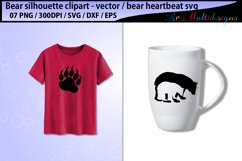 bear svg silhouette vector / mama bear svg / bear heartbeat Product Image 3