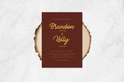 Brulee monoline font Product Image 6