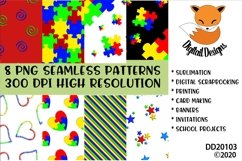 Bright Colored Autism Awareness Digital Paper Pack Product Image 1