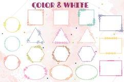 Geometric Frame Color   Decorative Border   Floral Wreath Product Image 4
