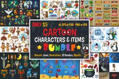 Cartoon Characters & Items Bundle Product Image 1