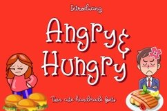 Angry & Hungry Twin Cute Fonts Product Image 1