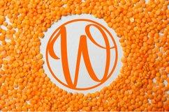 Circle Monogram Font - Monogram Initials Product Image 3