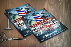 BARBER SHOP FLYER Template   Photoshop Template Product Image 3