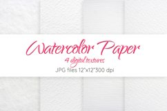 Watercolor paper texture Digital paper Paper background Product Image 1