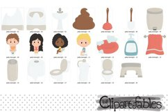 Cute POTTY training clipart, Education clip art, Poop Product Image 2