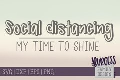 Social distancing - my time to shine II | Cuttable Product Image 2