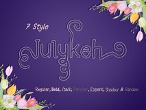 Julykeh handmade 7 Style Font Product Image 3